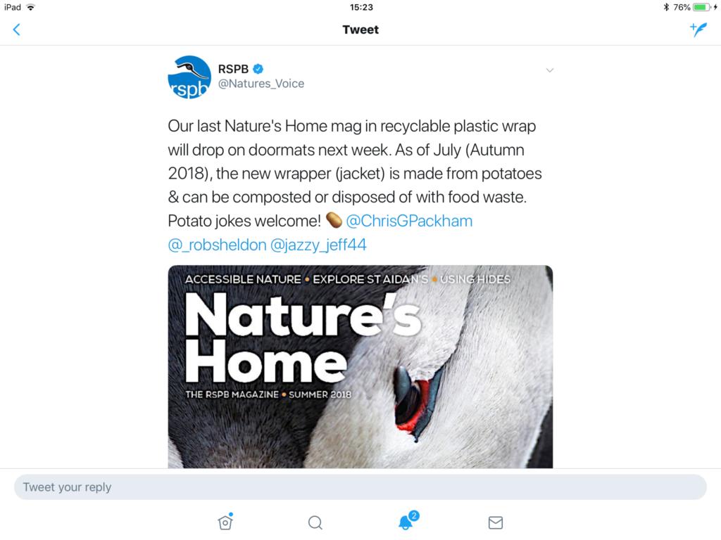 RSPB Tweet 13April2018